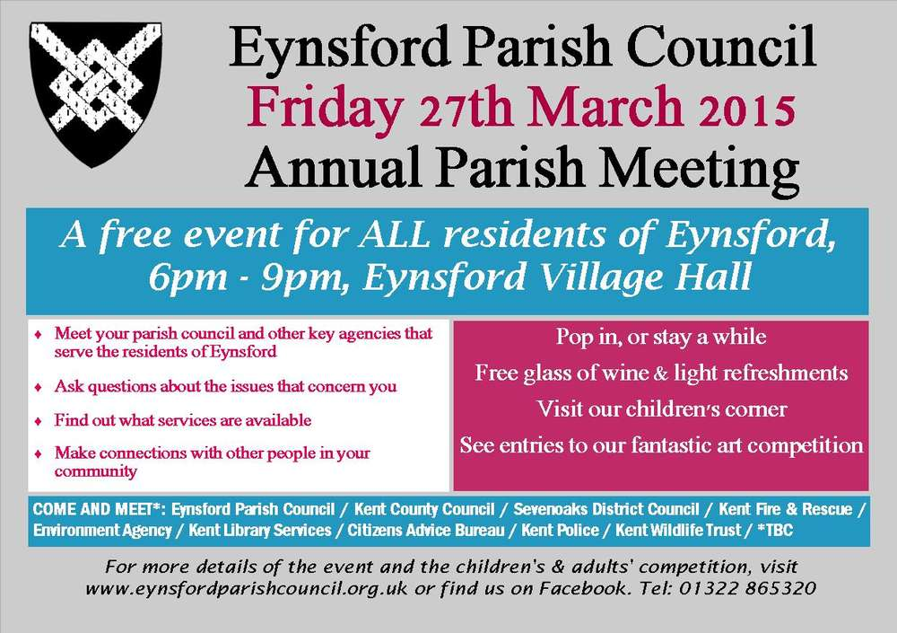 Details Confirmed - Annual Parish Meeting