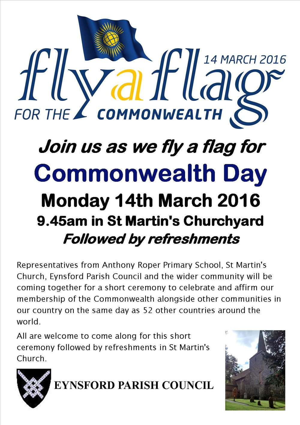 Flying the Flag for Commonwealth Day