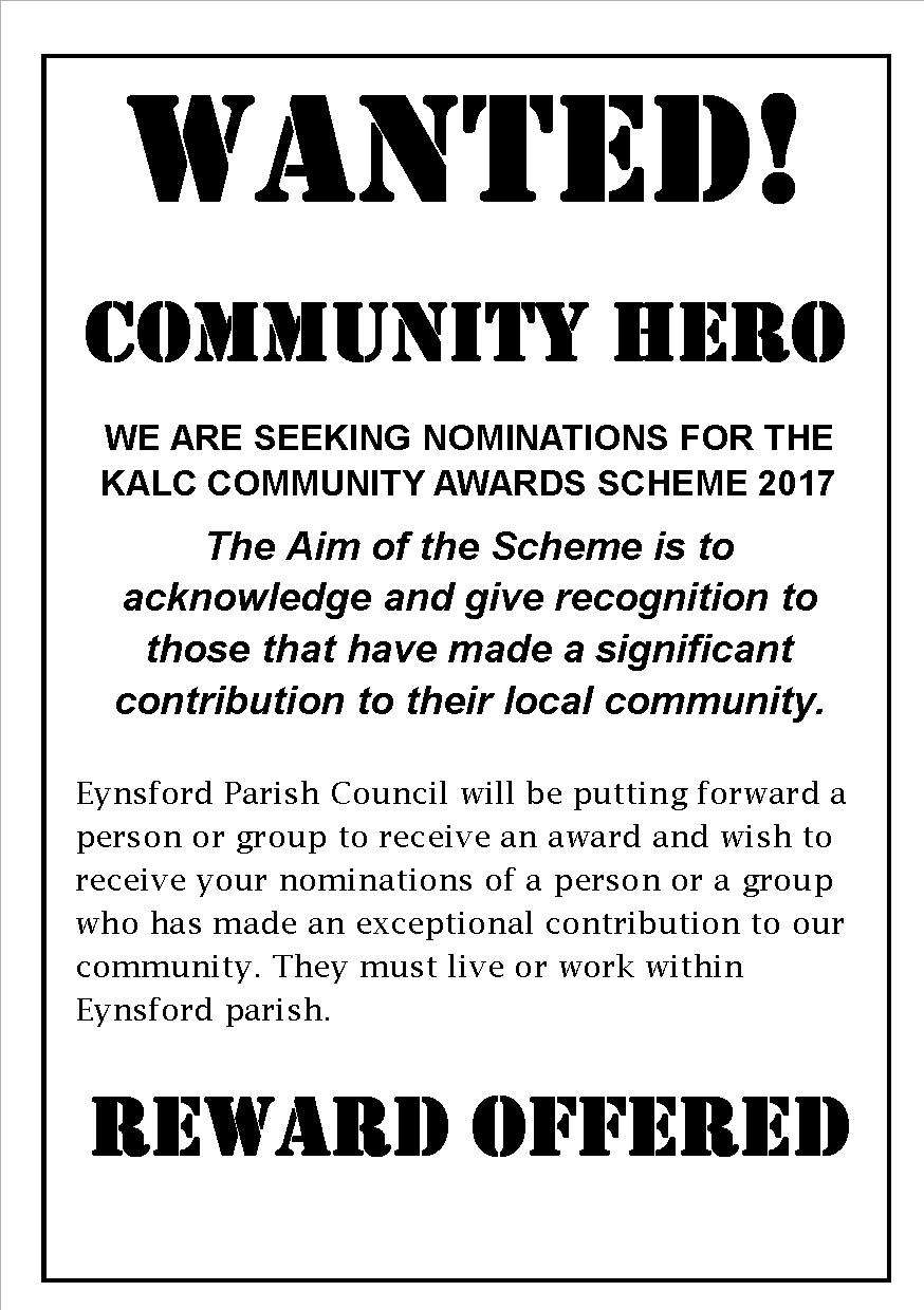 Community Awards - Nominate your Local Hero/s!