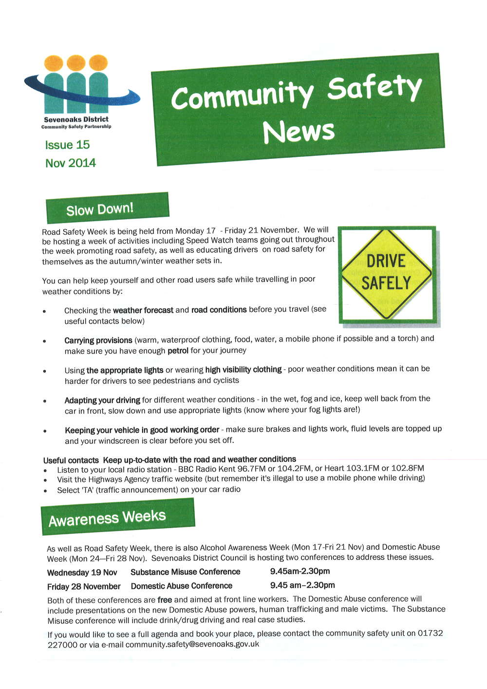 Community Safety News from Sevenoaks District Council