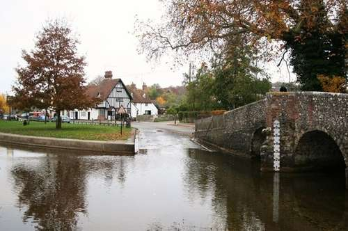 flooding at the ford in Eynsford